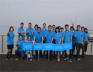 亚搏国际网址通信在太湖涵园度假村参加拓展活动